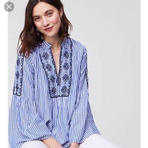 LOFT bell sleeve tunic blouse